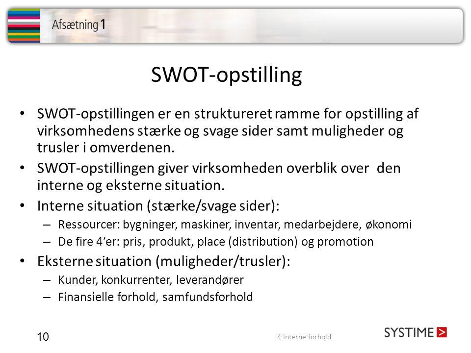 SWOT-opstilling