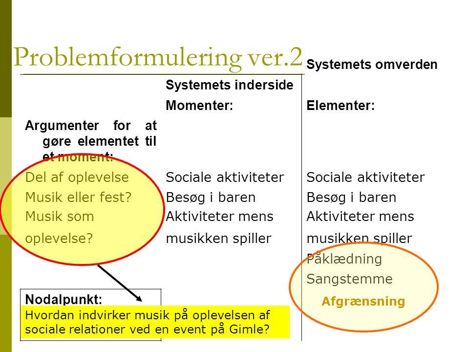 Problemformulering ver.2
