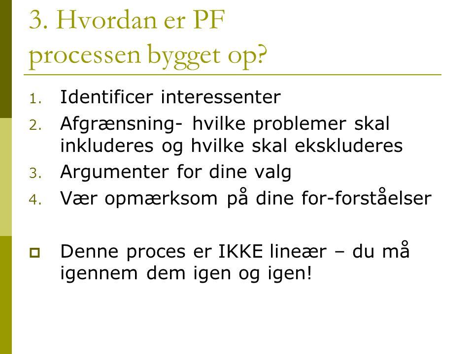 3. Hvordan er PF processen bygget op