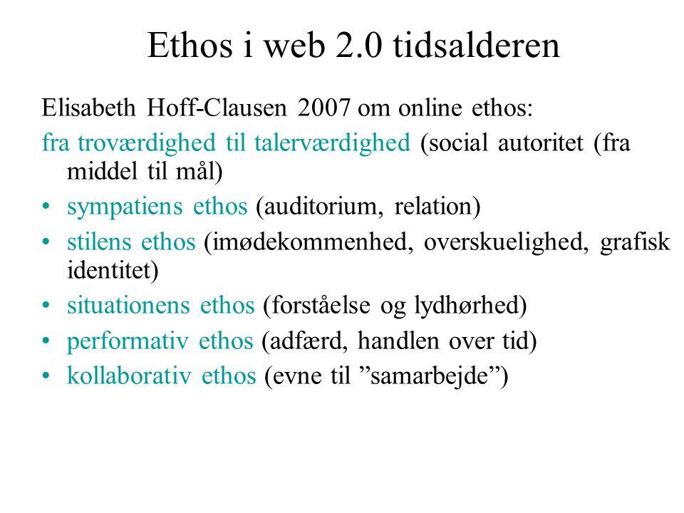 Ethos i web 2.0 tidsalderen