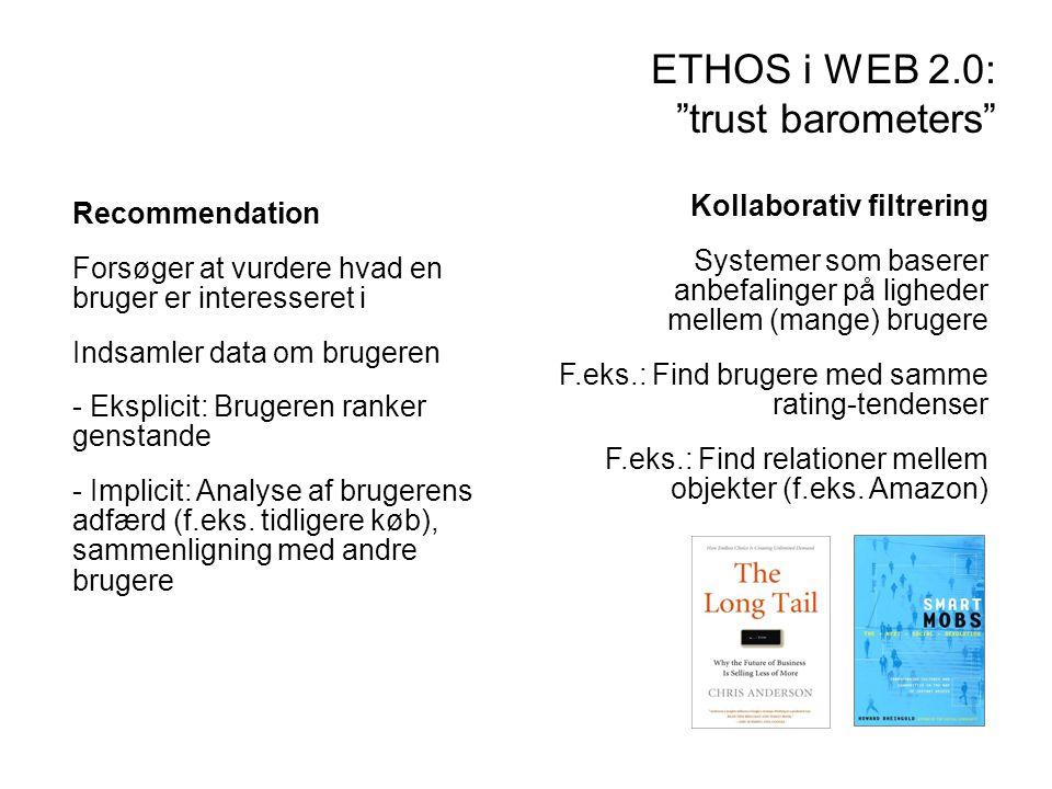 ETHOS i WEB 2.0: trust barometers