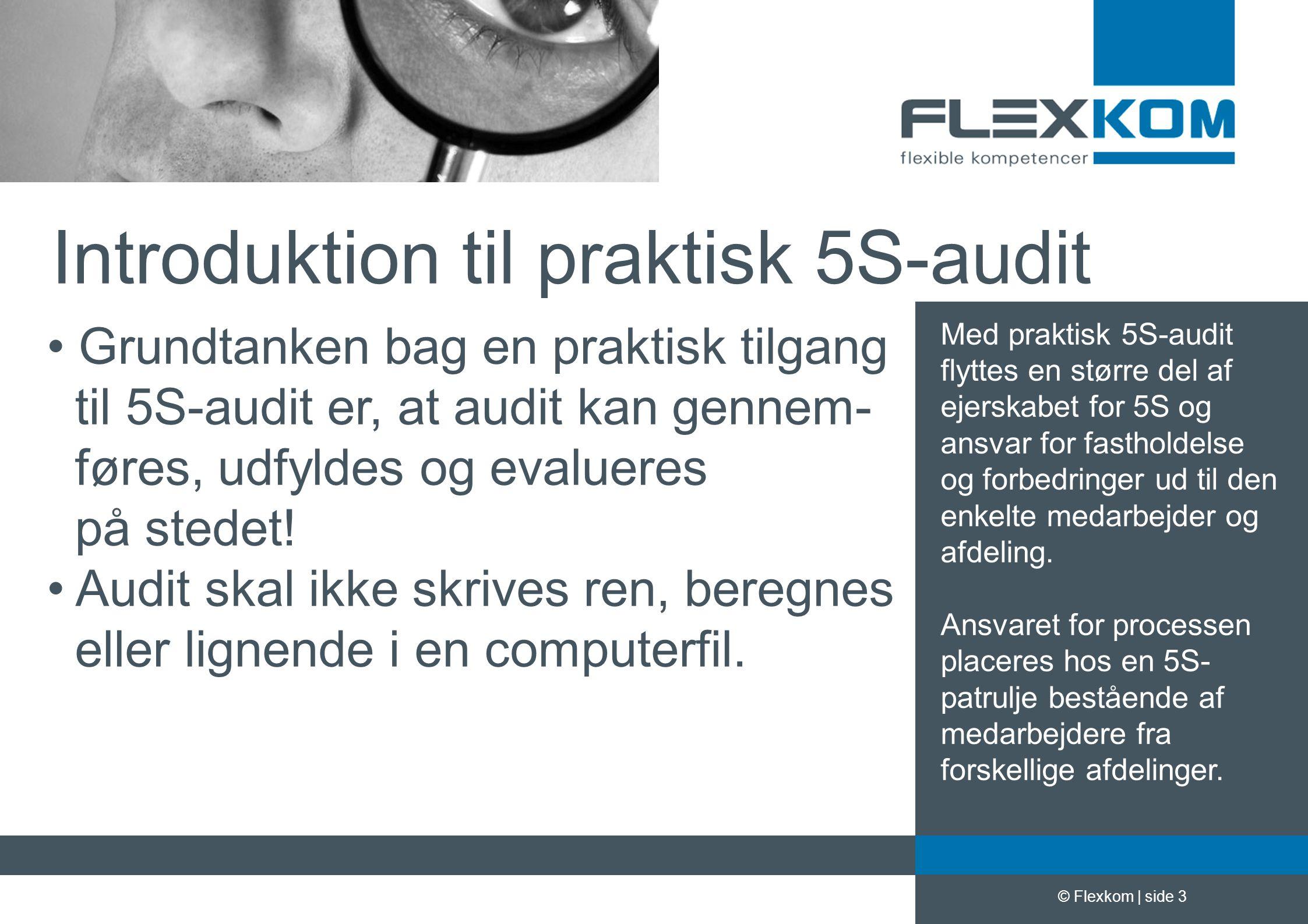 Introduktion til praktisk 5S-audit