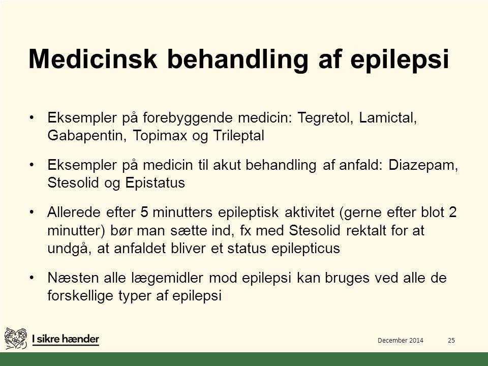 Medicinsk behandling af epilepsi