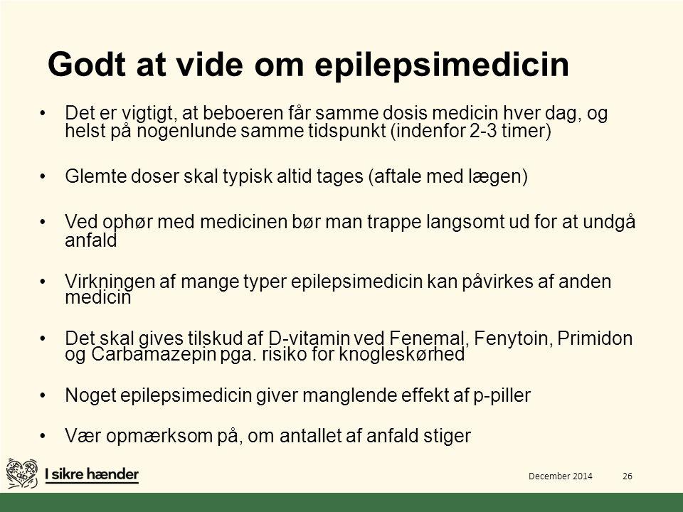 Godt at vide om epilepsimedicin