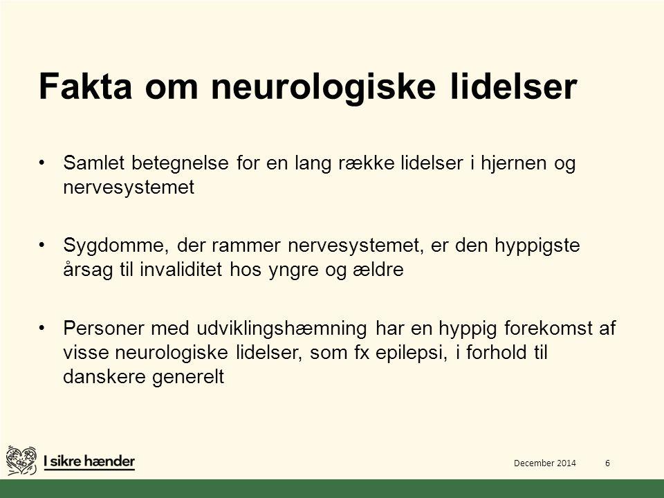 Fakta om neurologiske lidelser