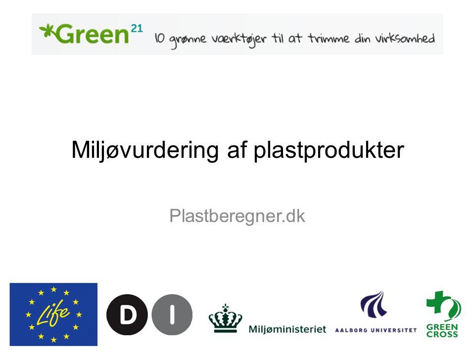 Miljøvurdering af plastprodukter