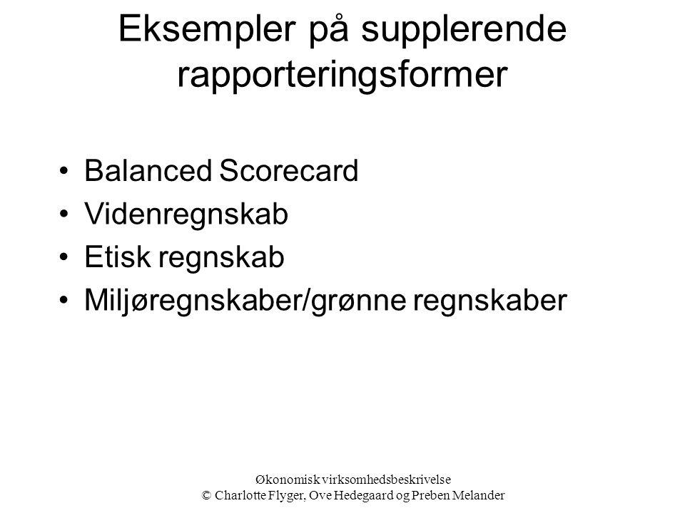 Eksempler på supplerende rapporteringsformer