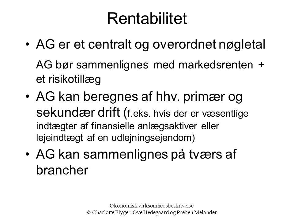 Rentabilitet AG er et centralt og overordnet nøgletal