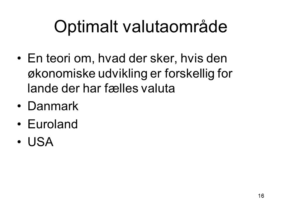 Optimalt valutaområde