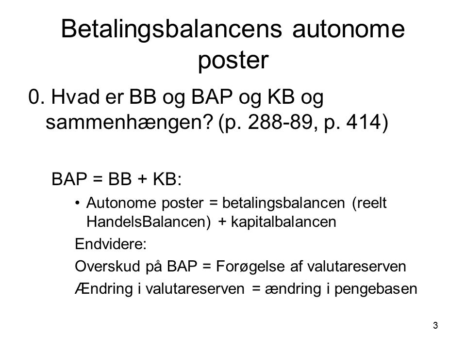Betalingsbalancens autonome poster