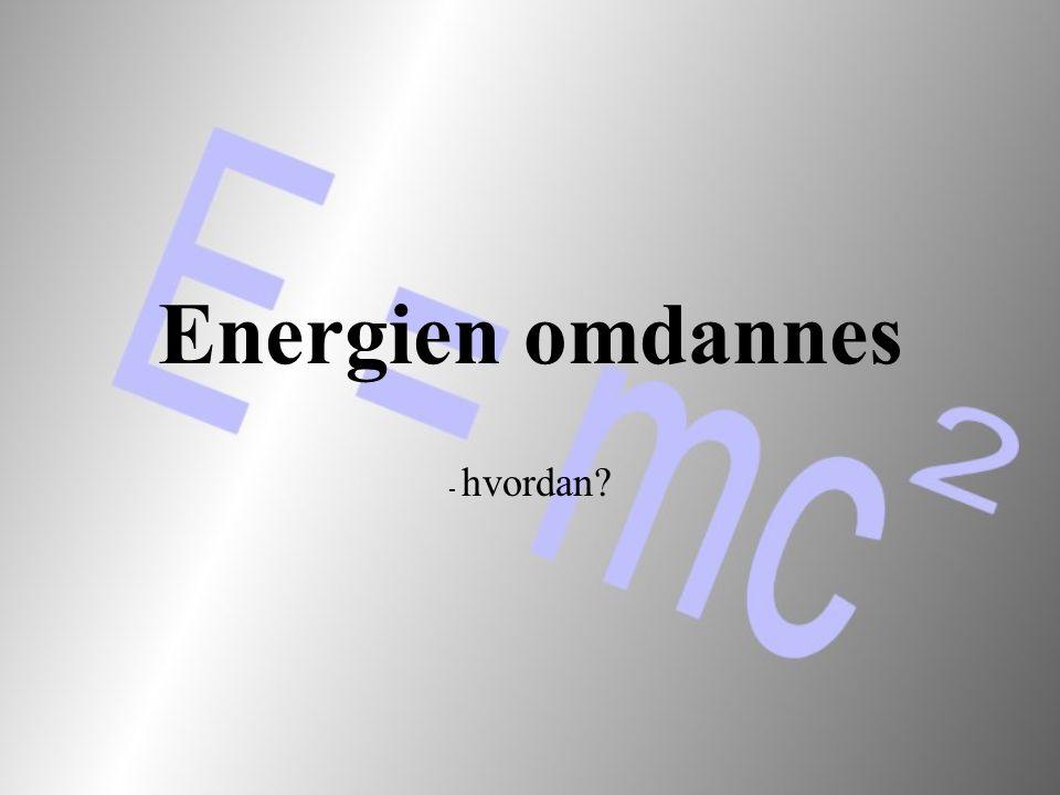 Energien omdannes - hvordan