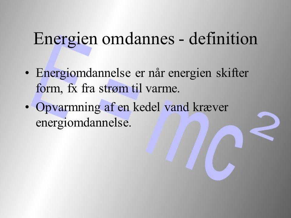 Energien omdannes - definition