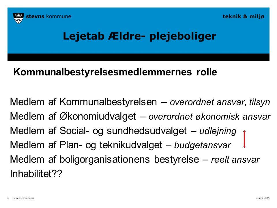 Kommunalbestyrelsesmedlemmernes rolle
