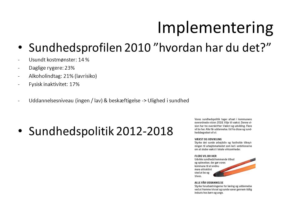 Implementering Sundhedsprofilen 2010 hvordan har du det