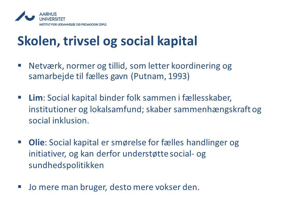 Skolen, trivsel og social kapital