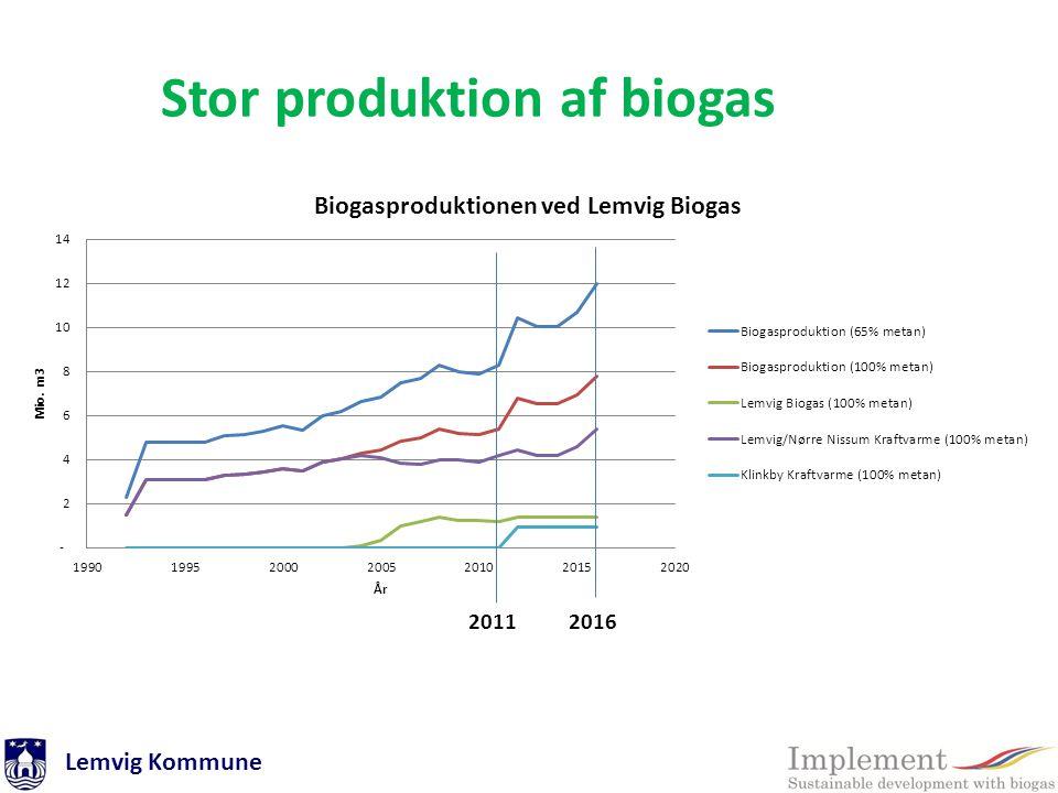 Stor produktion af biogas