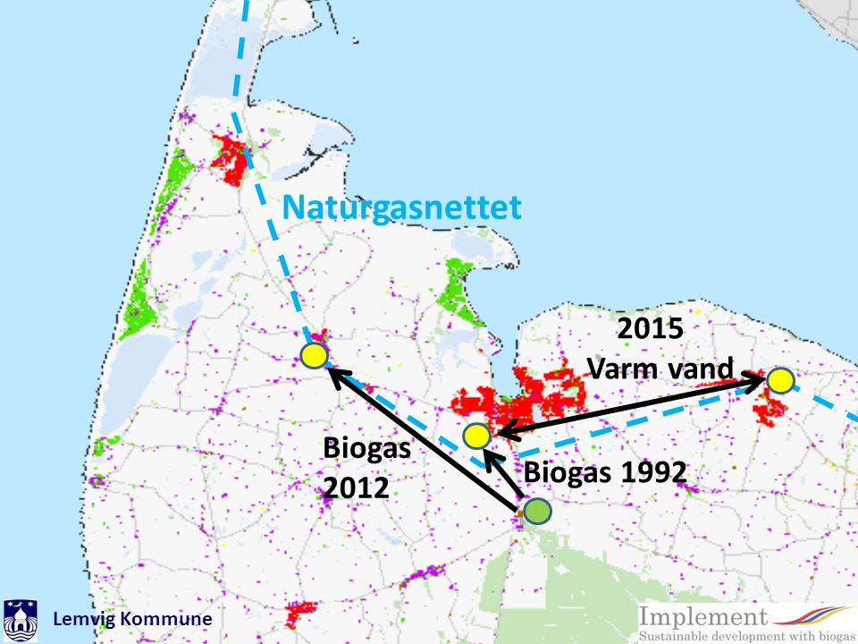 Naturgasnettet 2015 Varm vand Biogas 2012 Biogas 1992 Lemvig Kommune