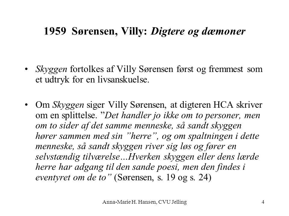1959 Sørensen, Villy: Digtere og dæmoner