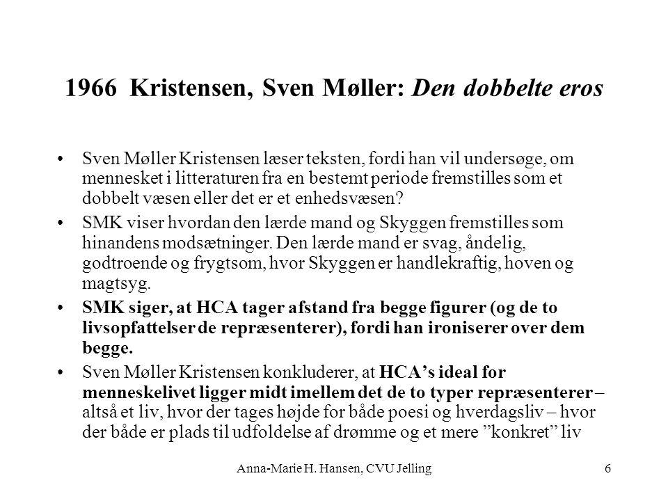 1966 Kristensen, Sven Møller: Den dobbelte eros