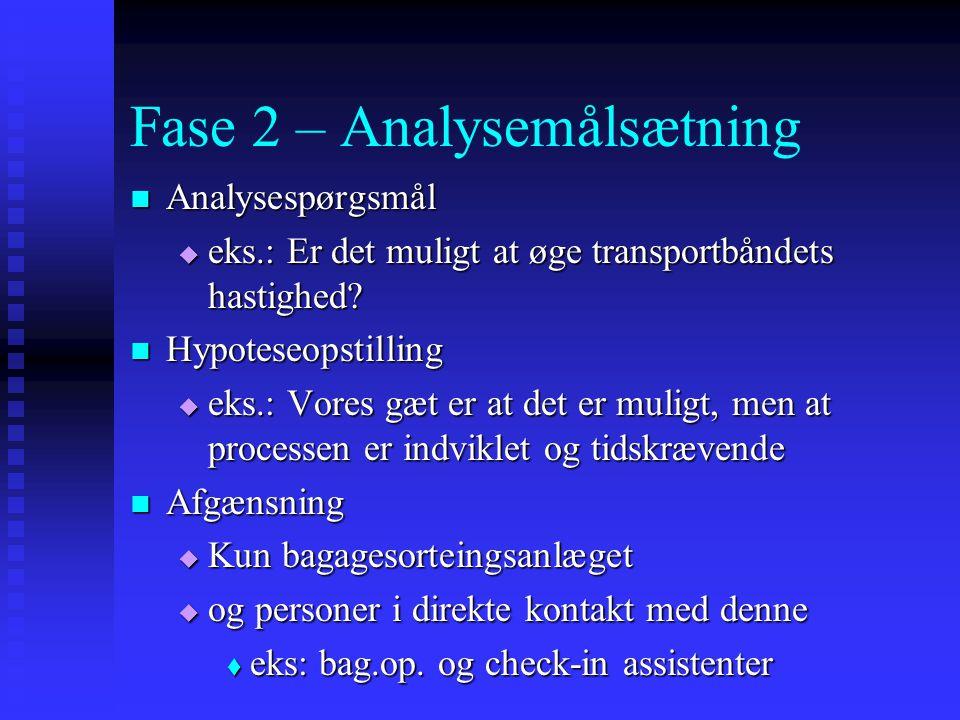 Fase 2 – Analysemålsætning