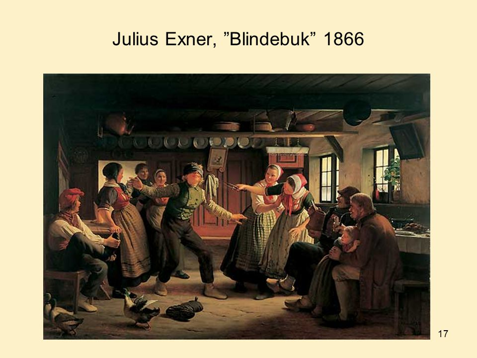 Julius Exner, Blindebuk 1866