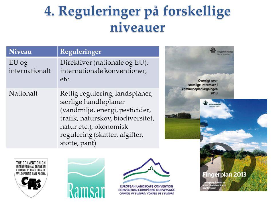 4. Reguleringer på forskellige niveauer