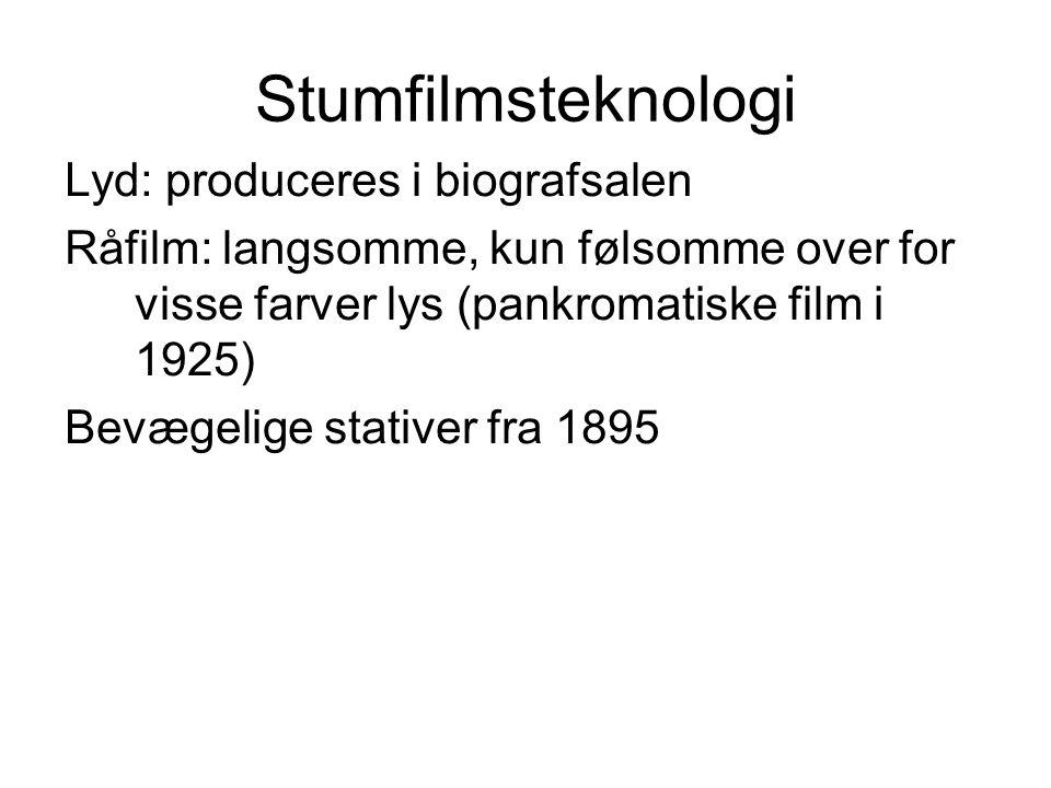 Stumfilmsteknologi Lyd: produceres i biografsalen