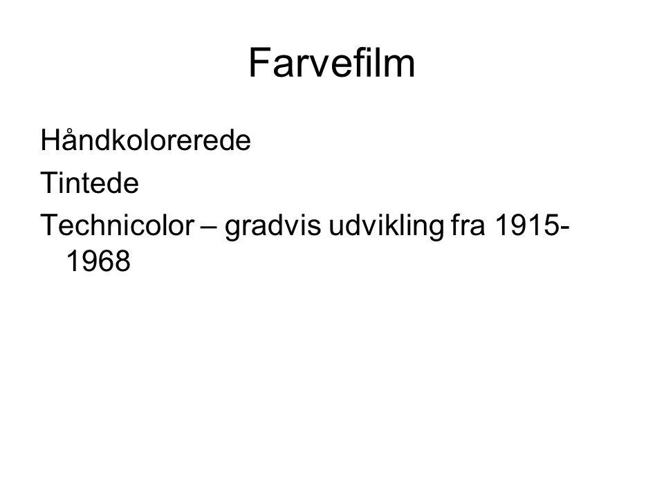 Farvefilm Håndkolorerede Tintede