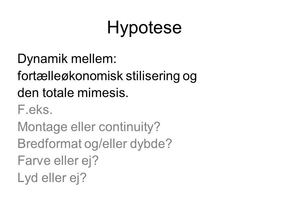 Hypotese Dynamik mellem: fortælleøkonomisk stilisering og