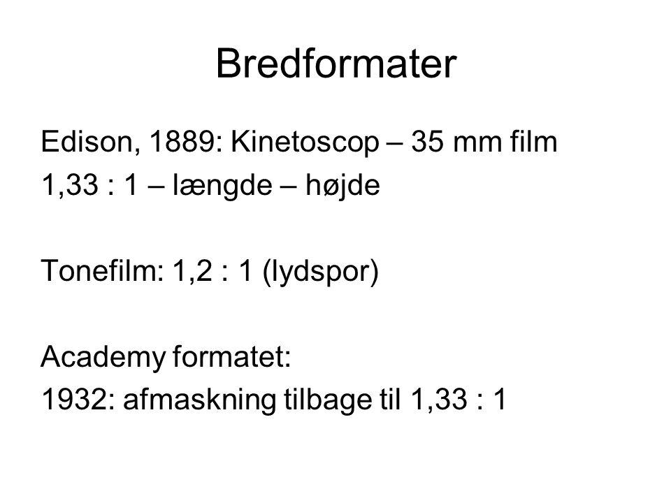 Bredformater Edison, 1889: Kinetoscop – 35 mm film