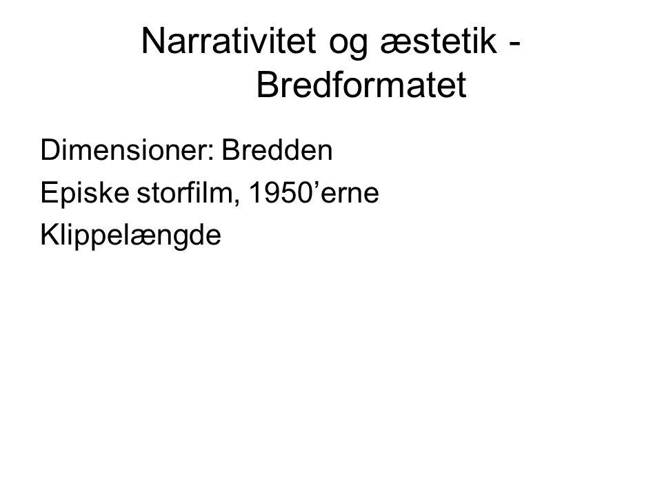Narrativitet og æstetik -Bredformatet