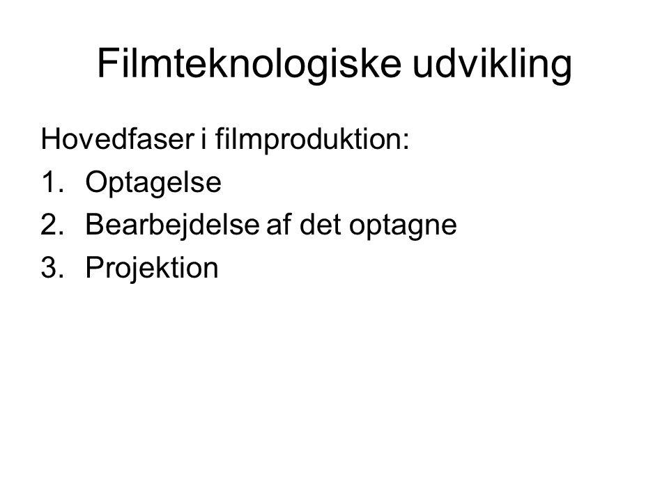 Filmteknologiske udvikling