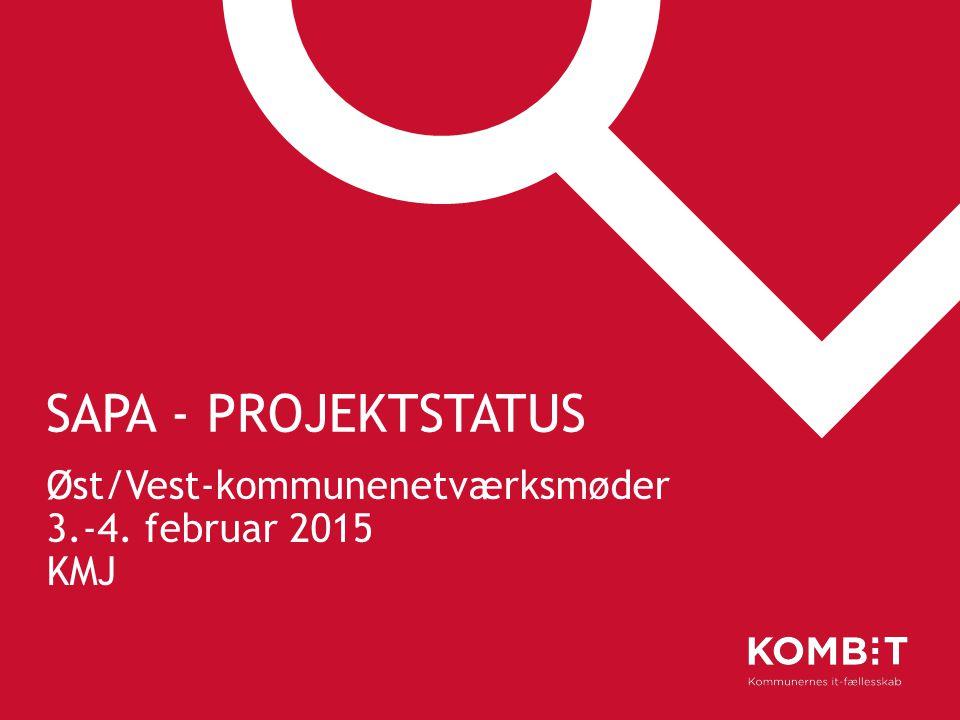 Øst/Vest-kommunenetværksmøder 3.-4. februar 2015 KMJ