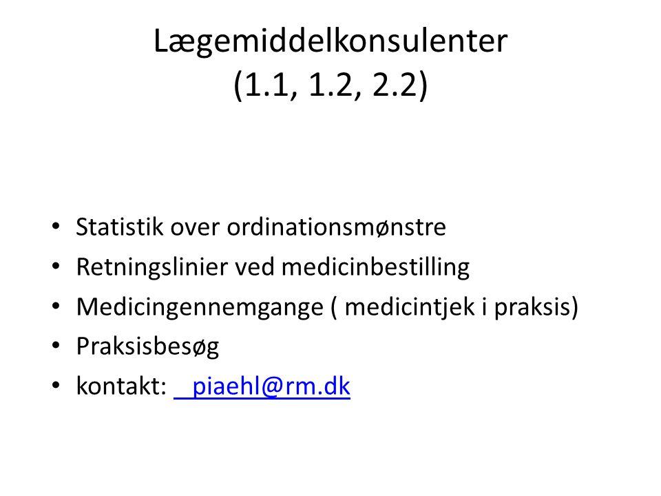 Lægemiddelkonsulenter (1.1, 1.2, 2.2)