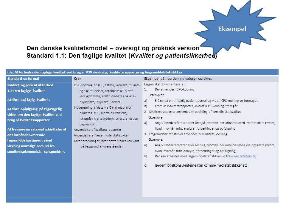 Eksempel Den danske kvalitetsmodel – oversigt og praktisk version