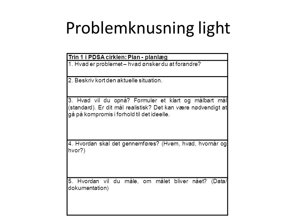 Problemknusning light