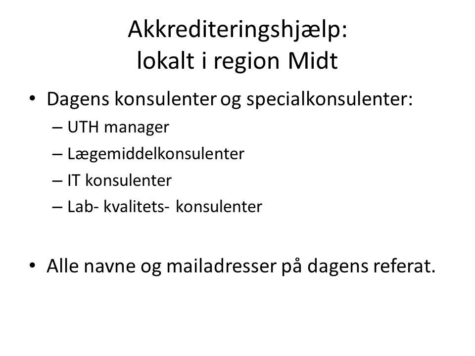 Akkrediteringshjælp: lokalt i region Midt