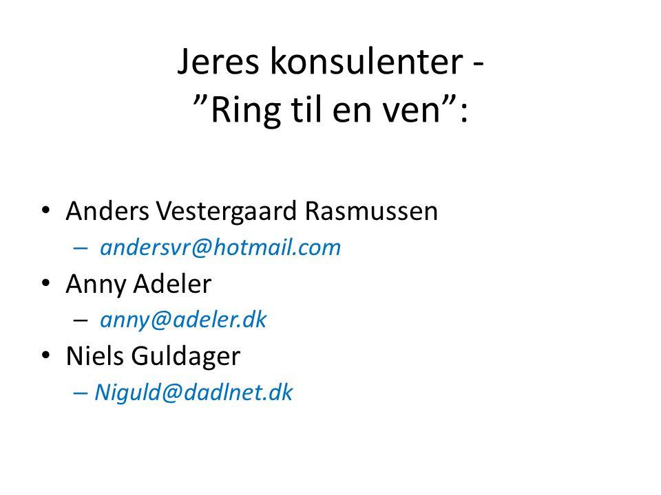 Jeres konsulenter - Ring til en ven :