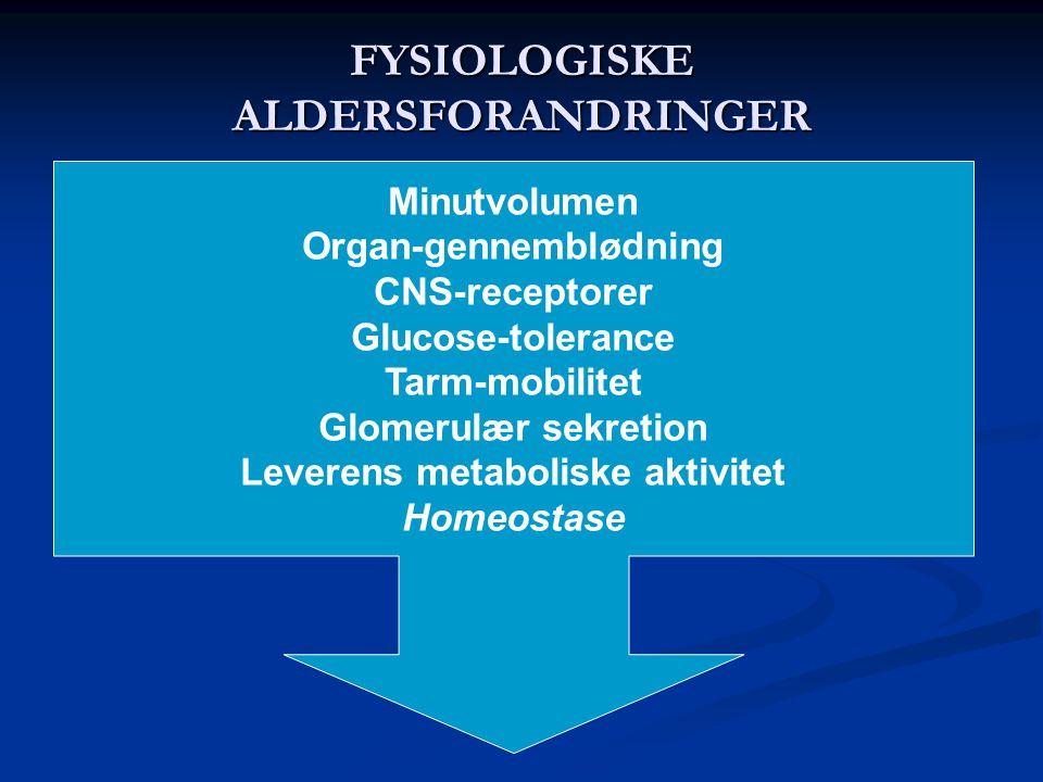 FYSIOLOGISKE ALDERSFORANDRINGER