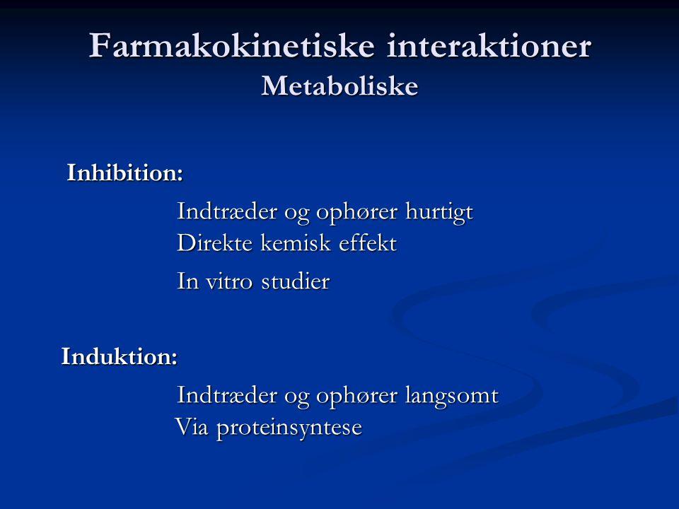 Farmakokinetiske interaktioner Metaboliske