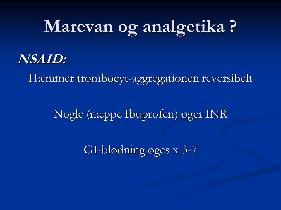 Marevan og analgetika NSAID: