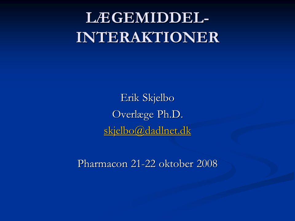 LÆGEMIDDEL-INTERAKTIONER