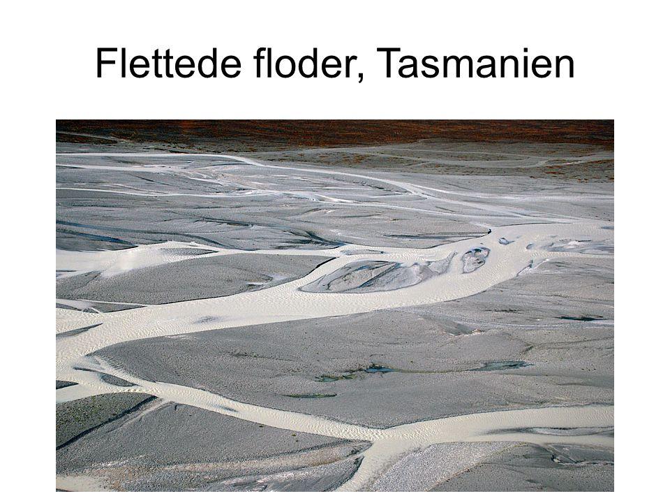 Flettede floder, Tasmanien