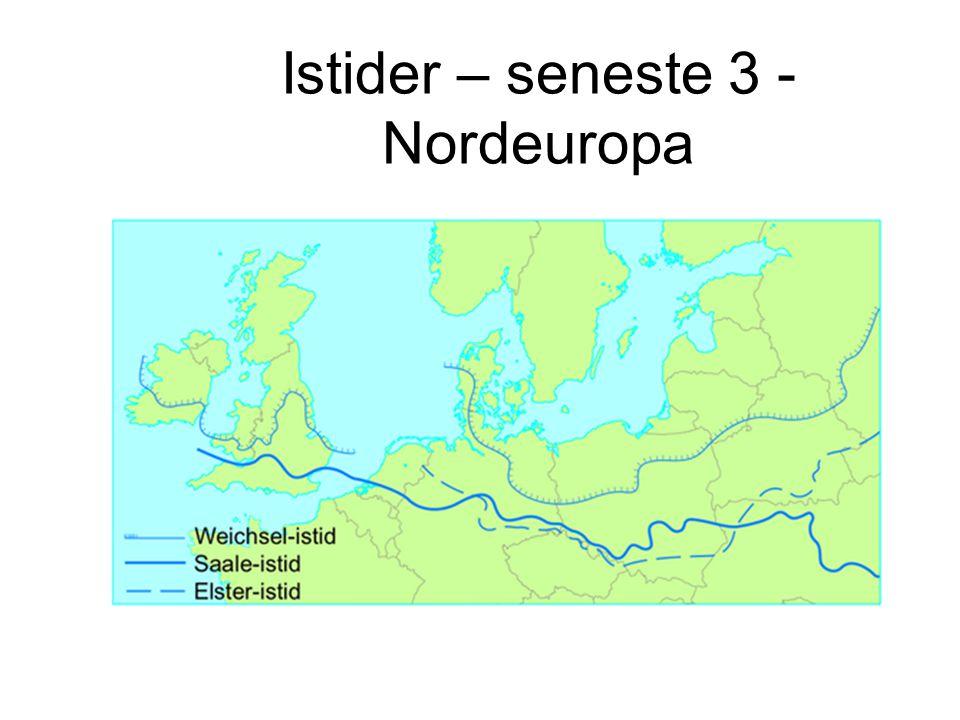Istider – seneste 3 - Nordeuropa