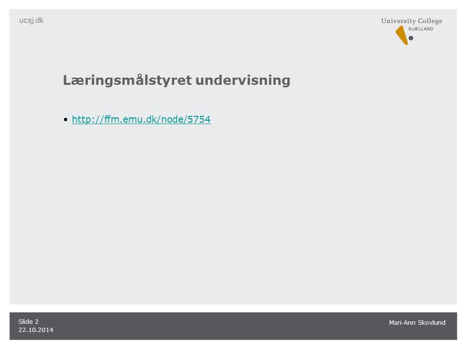 Læringsmålstyret undervisning