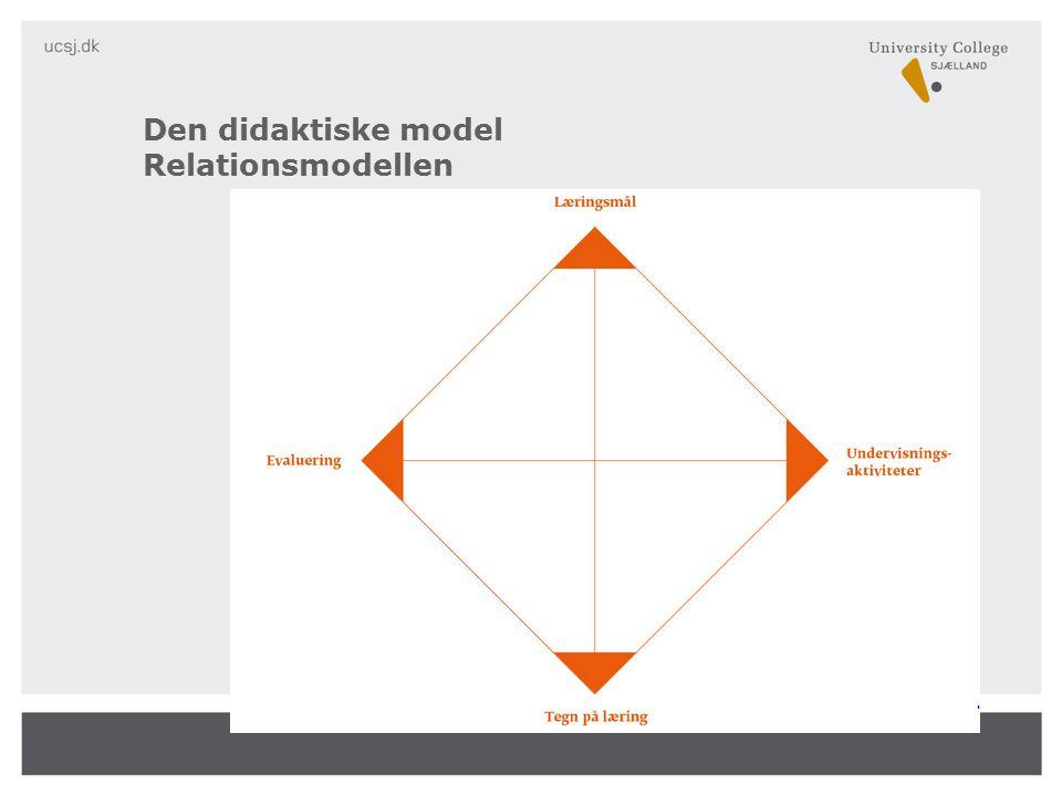 Den didaktiske model Relationsmodellen