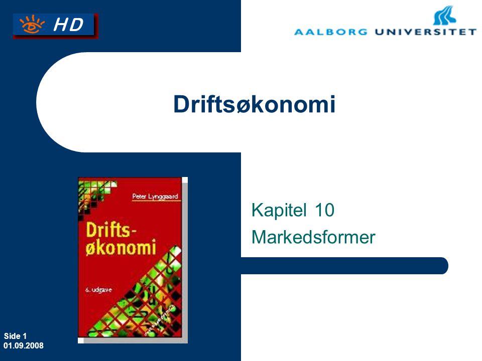 Erhvervsøkonomi Kapitel 10 Markedsformer