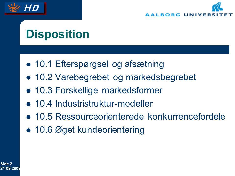 Disposition 10.1 Efterspørgsel og afsætning