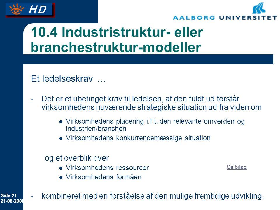 10.4 Industristruktur- eller branchestruktur-modeller