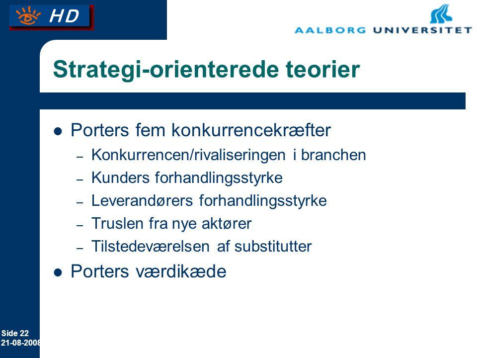 Strategi-orienterede teorier